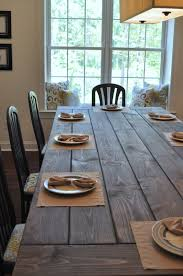 real rustic kitchen table long: farmhouse table remix how to build a farmhouse table east coast creative blog