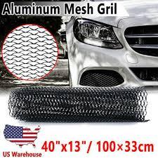 Universal <b>Aluminum Mesh</b> Grill Net Vent Sheet Bumper For <b>Auto Car</b> ...