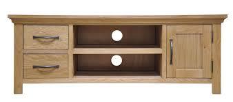 weston oak large tv unit camberley oak 2 door