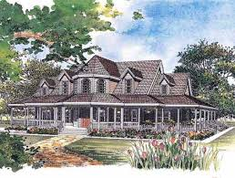 Country House Plans   e ARCHITECTURAL design   Page Plan W W  Delightful Victorian Farmhouse Plan