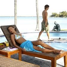 leeward islands teak chaise lounge brazilian wood furniture