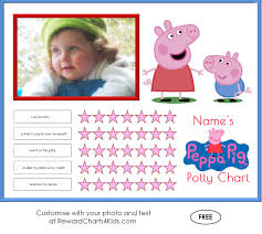 peppa pig potty training charts potty training middot customise middot sticker chart middot customise middot peppa pig printable