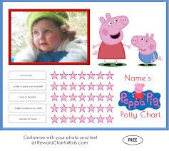peppa pig potty training charts peppa pig printable