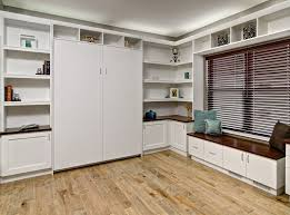 murphy bed up cropped bed office