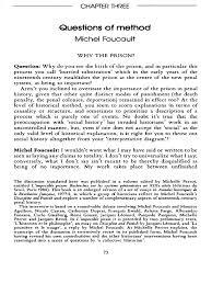 foucault m questions of method michel foucault prison
