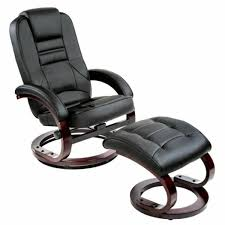 TecTake Luxury Faux Leather <b>TV Armchair with</b> Footstool Relaxer ...