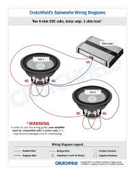 alpine amplifier wiring diagram  subwoofer wiring diagrams kasey i recommend wiring two subs to each amp like this