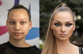sick from make yourself look pale s before and after makeup 5