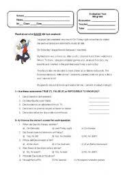English teaching worksheets: Tests and examsEnglish Worksheets: English Test for 6th graders