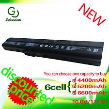 <b>Golooloo 4400MaH 11.1v Battery</b> A32 K52 for Asus A41 K52 A42 ...
