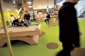 organizational culture allows for pool table usage at google atmosphere google office