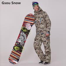 Gsou Snow <b>Brand ski suits</b> for <b>men</b> camouflage snowboard jackets ...