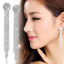 <b>Rhinestone Tassel Crystal</b> Costume <b>Earrings</b> for sale | eBay