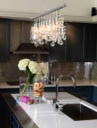 crystal kitchen full backsplashes view full size contemporary kitchen features linear crystal chandelier