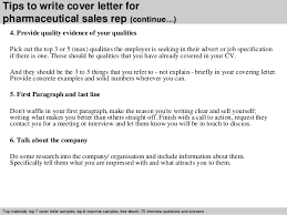 Tips to write cover letter for pharmaceutical sales