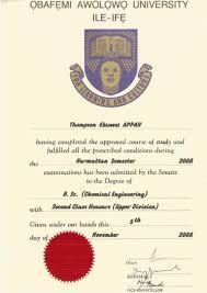 oau certificate