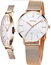Thin Stainless Steel Womens Watches Rose Gold and ... - Amazon.com