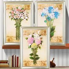 sunshine flower vase silk <b>ribbon embroidery</b> 3D canvas painting ...