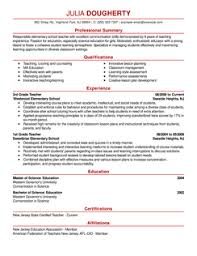 teacher resume example teacher resume templates