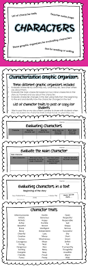 ideas about list of character traits 2 three graphic organizers for character evaluation and list of character traits