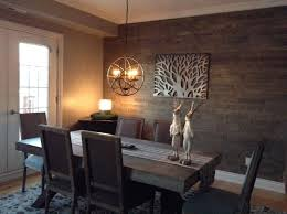 Dining Room Feature Wall Expression Denver 3d Wood Wall Panelling Installed In A Dining