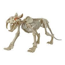 Home Accents 72-inch Long <b>LED</b>-Lit Skeleton Sabretooth Tiger ...