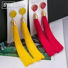 BFH Fashion <b>Tassel</b> Earrings for Women <b>Bohemian Tassel Crystal</b> ...