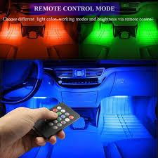 4PCS 48 <b>LED</b> Multicolor <b>Car LED Strip Lights</b> Interior <b>Atmosphere</b> ...