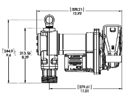 model fr1211g pump hose nozzle and meter fill rite mdi dimensions for model fr1210g pumps from fill rite