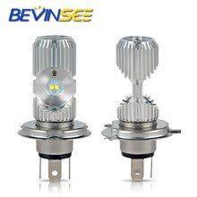 <b>Bevinsee LED Motorcycle</b> Headlight Bulbs Head Lamp <b>Lights</b> Bulbs ...