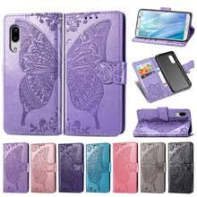 For Sharp AQUOS sense3 lite Gorgeous <b>Butterfly Wallet</b> Flip ...