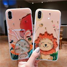 Cute <b>Cartoon Lion Rabbit</b> Glossy Soft Silicone Case For iPhone 11 ...