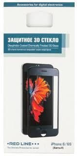 <b>Защитное стекло Red Line</b> 3D для Apple iPhone 6/6S — купить по ...