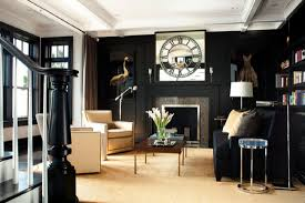 ideas black living rooms