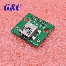 <b>5PCS mini USB</b> to DIP Adapter Converter for 2.54mm PCB Board ...
