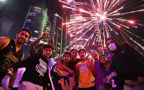 <b>Fans</b> vow to support <b>Lakers</b> in states that aren't locked down