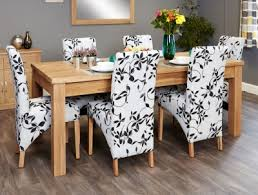 baumhaus mobel extending oak dining set with 6 upholstered chairs baumhaus mobel solid oak reversible