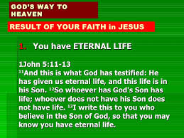 Image result for 1 john 5:11~13