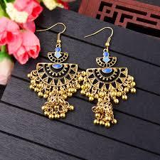 <b>TopHanqi Indian Jhumka Jewelry</b> Boho Vintage Ethnic Small Bells ...