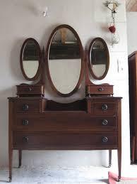 furniture make up vanity table black desk vintage espresso wooden