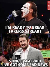 Bad News for Sting Meme | WWE Bad News Barrett | Pinterest | Meme ... via Relatably.com