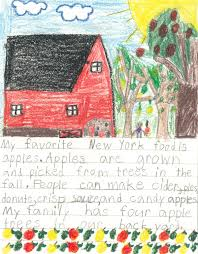 new york aitc agriculture in the classroom my favorite new york food is apples apples are grown and picked from trees in the fall people can make cider pies donuts crisp sauce
