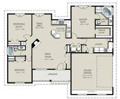 Small houses  Floors and Small house floor plans on PinterestSmall house   nice laundry room  Sq  Ft  Three BR  Two
