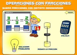 http://www.educa.madrid.org/web/cp.beatrizgalindo.alcala/archivos/fracciones/fracciones/distintodenominador.html