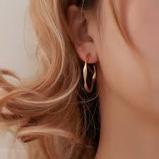 Round Hoop Earrings For <b>Women Big</b> Circle Loop Earring Twisted ...