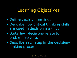 CHAPTER   OBJECTIVES Students will learn to  Define critical thinking SlidePlayer