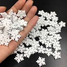 100X Snowflake Flatback <b>Christmas</b> Crafts DIY Home <b>Party</b> Decor ...