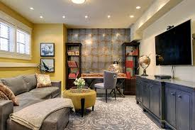 view in gallery gorgeous and well decorated home office in the basement by ka design basement office design