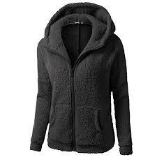 Callm <b>Women</b> Hooded <b>Plush Coat</b> Jacket Sweater <b>Winter</b> Warm ...