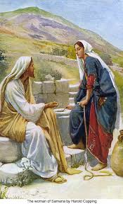 Image result for jesus conversation with samaritan woman